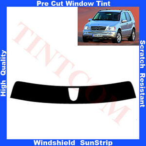 Pre-Cut-Window-Tint-Sunstrip-for-Mercedes-ML-5-Doors-1998-2005-Any-Shade