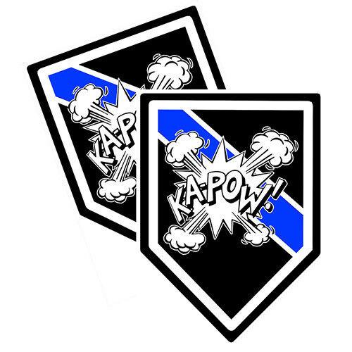 Bomb Squad KA-POW 2 DECALS Brotherhood® Police Decals