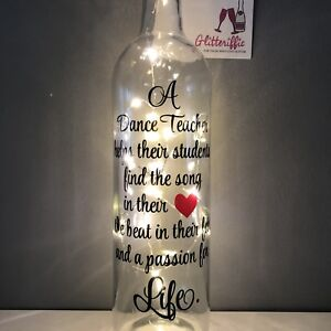 Details about DANCE TEACHER QUOTE DIY WINE BOTTLE VINYL DECAL STICKER  LEAVING / BIRTHDAY GIFT