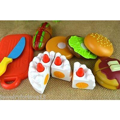 1Set Kinder Spielzeug Kuchen Torte Kinderküche Spielküche Schneider Zubehör JO