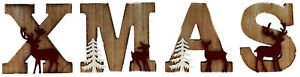 In-legno-shabby-chic-Natale-Christmas-Lettere-decorazione-ornamentale