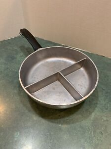 Vintage-Club-Aluminum-8-034-Frying-Pan-3-Section-Divided-Camping