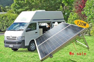 120W 2*60W portable folding suitcase solar panel for RV,yacht,motor-home,boat