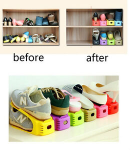 Delicieux Image Is Loading 2PCS Shoe Slotz Organizer Storage Shelf Furniture Space
