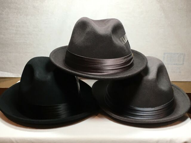 5c11d8084c9ea Stacy Adams Mens Crushable Wool Felt Snap Brim Fedora Hat Dorfman Pacific  Co Inc SAW566 Hats ...
