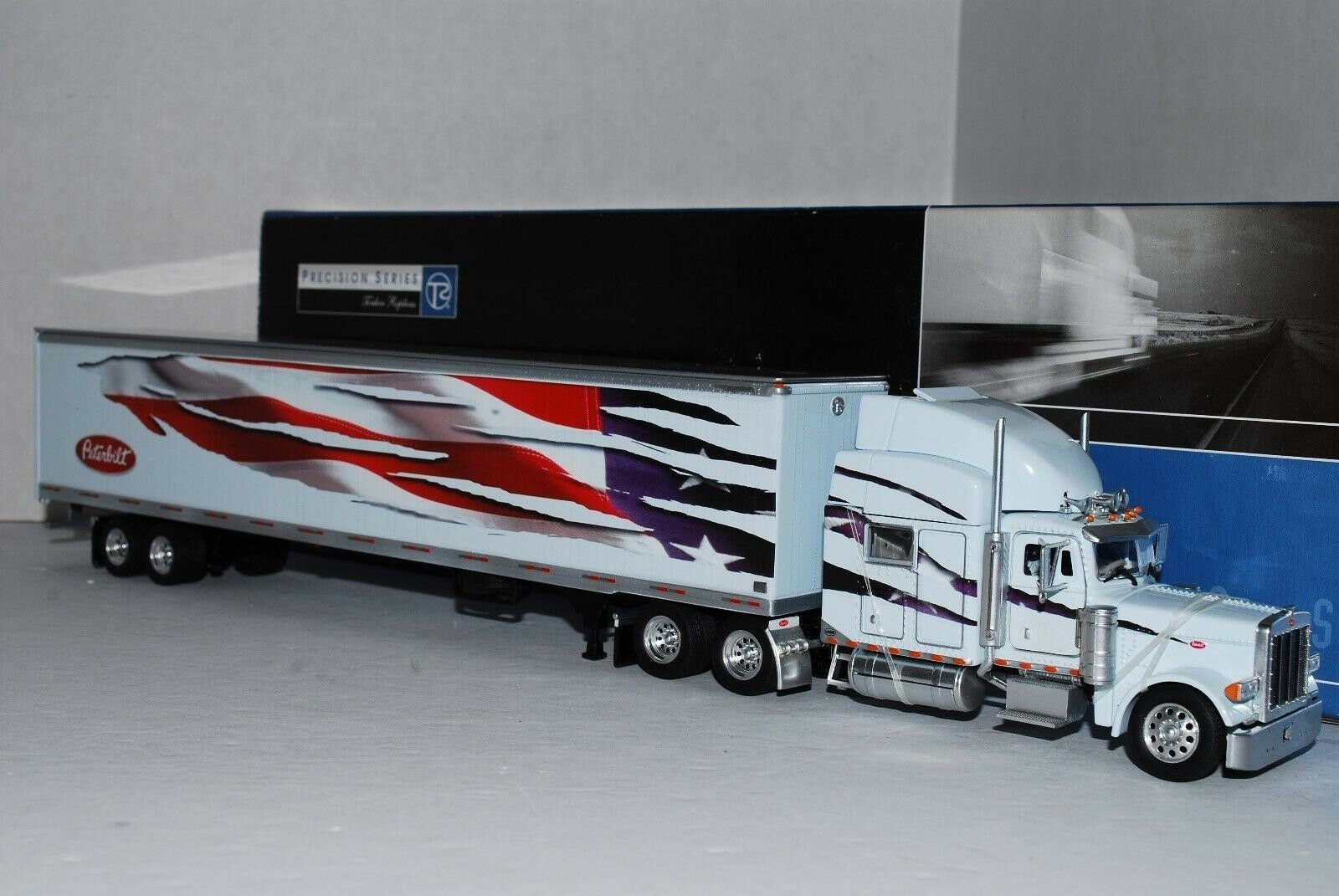 Tonkin Precision Series Peterbilt 379 Patriotic w 53' Dry Van 1 53th Scale.