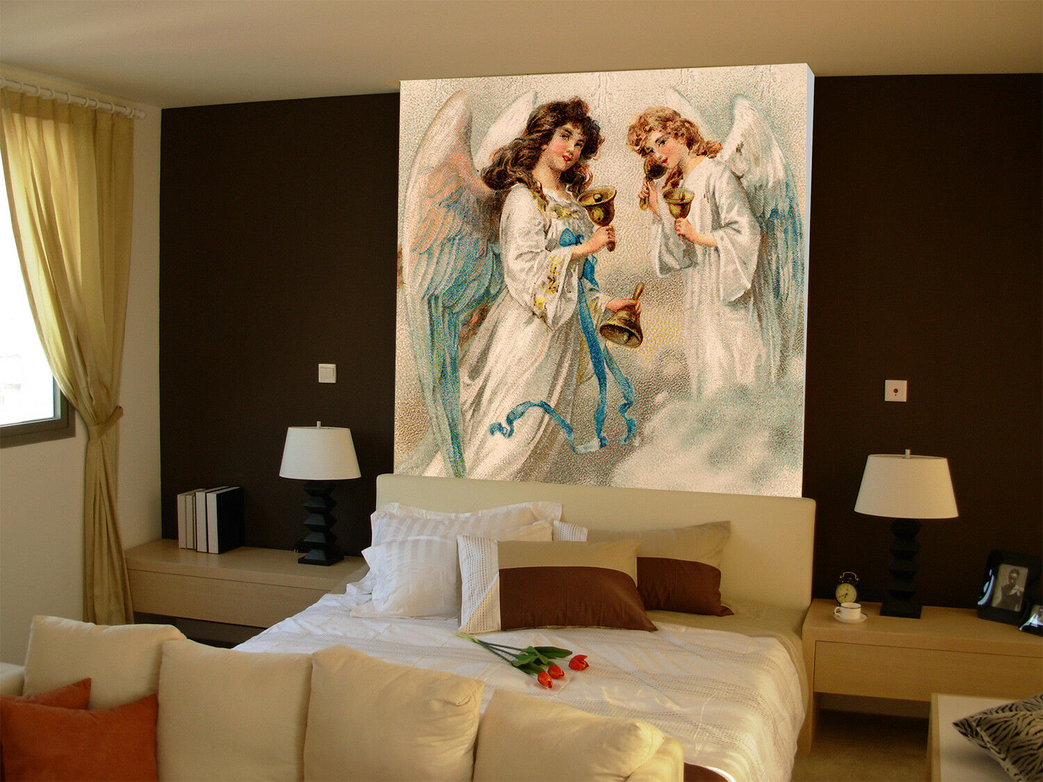 3D Angel Girls 563 Wall Paper Wall Print Decal Wall Deco Indoor Mural Carly