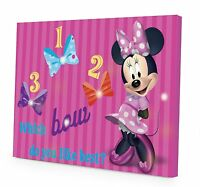 Disney Minnie Mouse Led Canvas Wall Art, 15.75-inch X 11.5-inch , New, Free Ship on sale