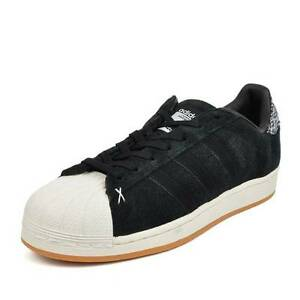 Image is loading ADIDAS-SUPERSTAR-SUEDE-LOW-SNEAKERS-MEN-SHOES-BLACK- f4c379df1