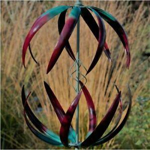 Jonart-Designs-Cosmic-Wind-Sculpture-Green-and-Red-Color-WINDSPINNER-Sp455