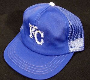 54cc2c816 Details about Vintage Old Time Kansas City Royals Mesh Truckers Snapback  Baseball Cap Hat