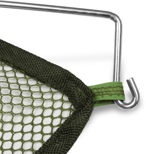 Köderfischsenke 100 cm x 100 cm Netz oliv Maschenweite: 5 mm zusammenklappbar