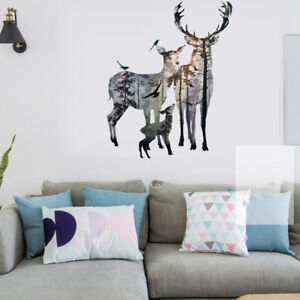 Delightful Image Is Loading Removable Deer Forest Wall Stickers Decals Art Mural