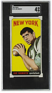 Joe Namath 1965 Topps #122 New York Jets Football Card SGC VG-EX 4