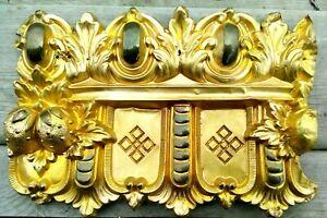 13-Pc-Antique-Victorian-Architectural-Gold-Tone-Cornice-Window-Ceiling-Rare