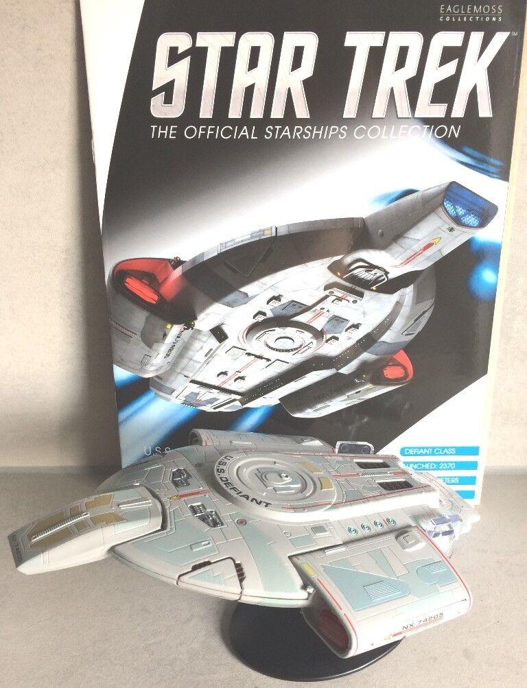 Star Trek U.S.S. Defiant NX-74205 22cm Sondermodell Eaglemoss + Magazin OVP
