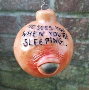 Horror Christmas Ornaments.Details About He Sees You When You Re Sleeping Single Horror Ornament Creepy Christmas