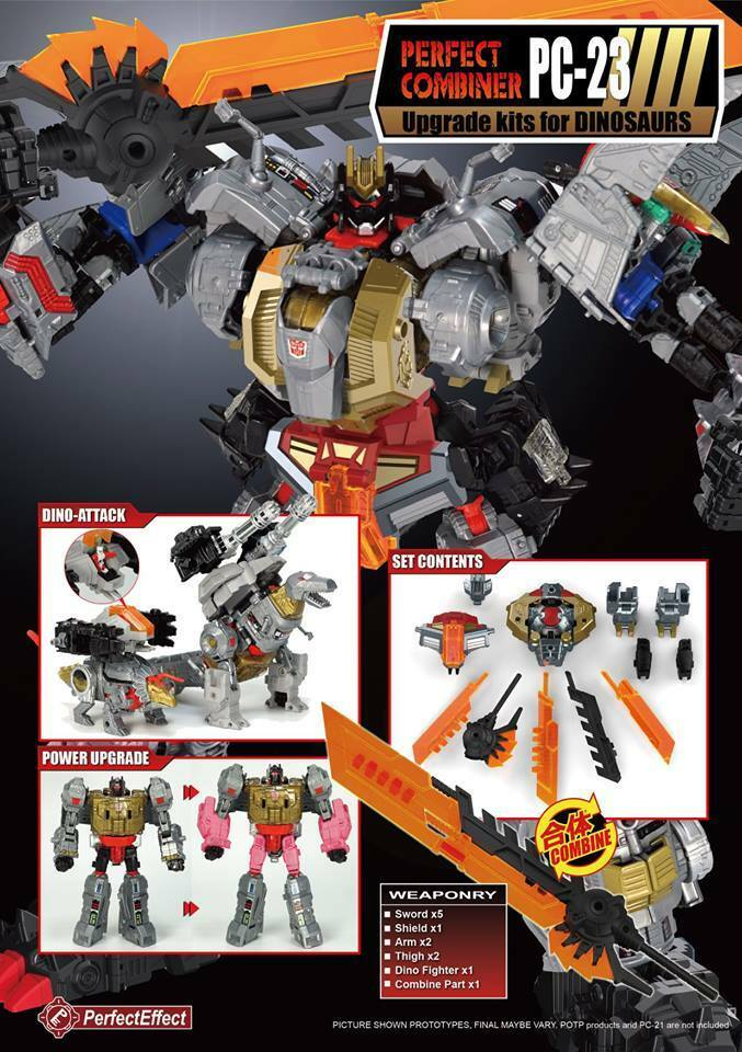 (In Hand) Transformers Perfect Combiner Effect PC-23 Upgrade for Dinobots NEW