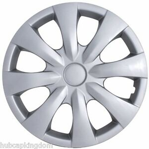 NEW-2009-2013-TOYOTA-COROLLA-15-034-8-spoke-Silver-Hubcap-Wheelcover