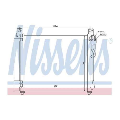 Fits Kia Picanto 1.1 Genuine OE Quality Nissens A//C Air Con Condenser
