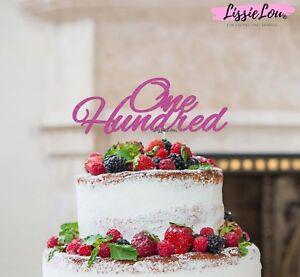 Astonishing Lissielou One Hundred Birthday Cake Topper 100Th Glitter Card Made Personalised Birthday Cards Xaembasilily Jamesorg