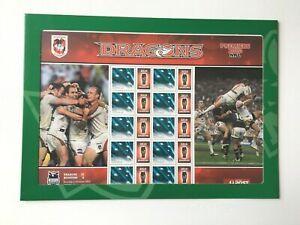 AD202-Australia-2010-St-George-Dragons-NRL-Premiers-Sheetlet-MUH-Collectable