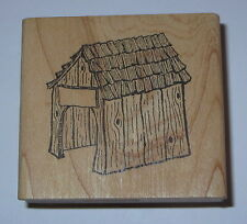 Dog House Rubber Stamp G Rated Retired Shingles Wood Grain Detailed Name Plate
