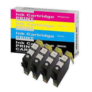 4-Black-Ink-Cartridge-For-Epson-Stylus-S22-SX125-SX130-SX230-SX235W-SX420W