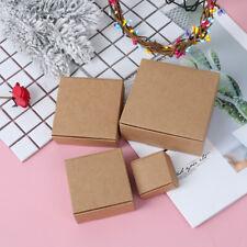 10pcs Brown Kraft Paper Aircraft Gift Boxes Blank Handmade Soap Packing Bijhbol