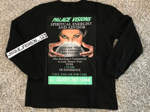 3f8a5f62d371 PALACE SKATEBOARDS VISIONS LONGSLEEVE LS TEE S BLACK TRI FERG T-SHIRT SS16  RARE