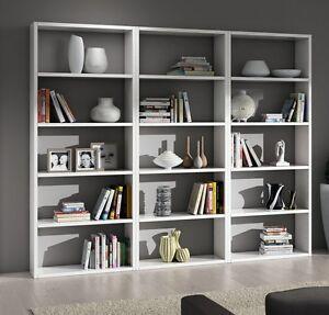 Libreria bianca moderna ufficio cameretta ebay for Casa moderna bianca