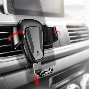 Handyhalterung-KFZ-Anti-Shake-Multi-Winkel-Schwerkraft-Auto-Lueftung-fuer-iPhone-X