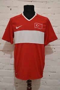 TURKEY HOME FOOTBALL SHIRT 2008/2009 SOCCER JERSEY TRIKOT MAILLOT NIKE MENS M