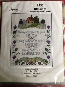 Imaginating-House-BLESSINGS-Cross-Stitch-Kit-by-Diane-Arthurs-1556-NEW