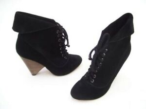 RMK ANKLE BOOTS SIZE 8 BLACK LEATHER