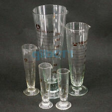 5 1000ml Lab Glass Footed Apothecary Measuring Cone Beaker Conical Graduated