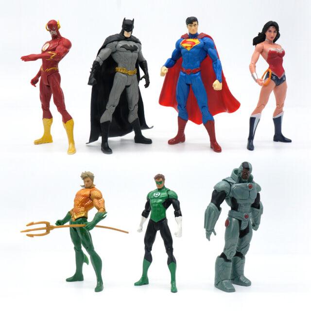 """7 Pcs DC Justice League 7/"""" Action Figure Toy Superman//Batman//Flash//Wonder woman"""