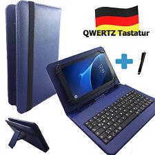 Deutsche Tastatur Samsung Galaxy Tab S10.5 - 10.1 zoll Tablet Tasche Qwertz Blau