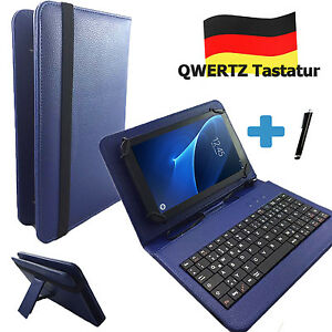 Details zu Deutsche Tastatur Hülle Samsung Galaxy Tab S 10.5 10.1 zoll Tablet Tasche Blau