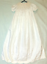 Christening-Baptism-dress-smocked-bodice-and-embroidered-detail miniature 1