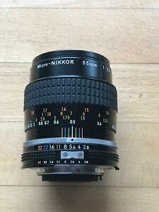 Nikon-MICRO-NIKKOR-AiS-1-2-8-55mm-MAKRO-OBJEKTIV-WIE-NEU