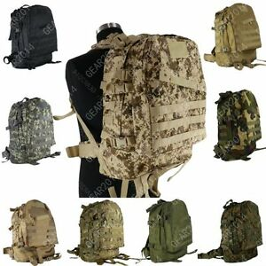 3 Day Tactical Molle Military Hydration Camo Backpack Outdoor Camping Sport Bag