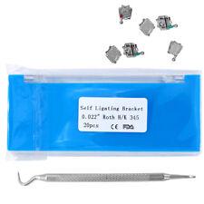 Dental Orthodontic Self Ligating Brackets Roth 022 345hooks With Tool