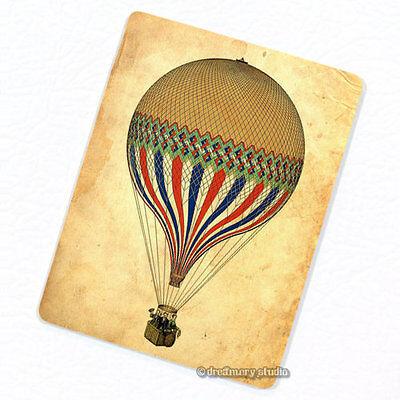 Yellow Hot Air Balloon Deco Magnet, Decorative Fridge Refrigerator Décor Gift