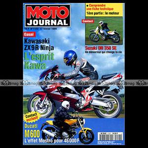 MOTO-JOURNAL-1122-KAWASAKI-NINJA-ZX-9R-DUCATI-600-MOSTRO-SUZUKI-DR-350-SE-1994