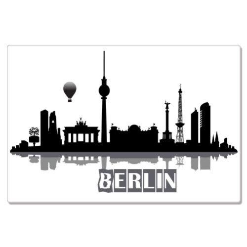 "Berlin Skyline Germany Travel car bumper sticker decal 8/"" x 3/"""