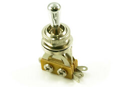 Les Paul Chrome Brass Tip 3 Way Toggle Switch Pickup Selector Fits Charvel