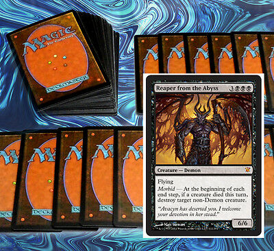 mtg BLACK DEMONS DECK Magic the Gathering rare 60 cards + reaper from the abyss