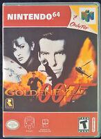 007 Goldeneye N64 Vertical High Quality Box Art/case By Retrodan