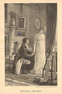Details about Romance, Wedding, Marriage Proposal, Vintage 1894 German  Antique Art Print